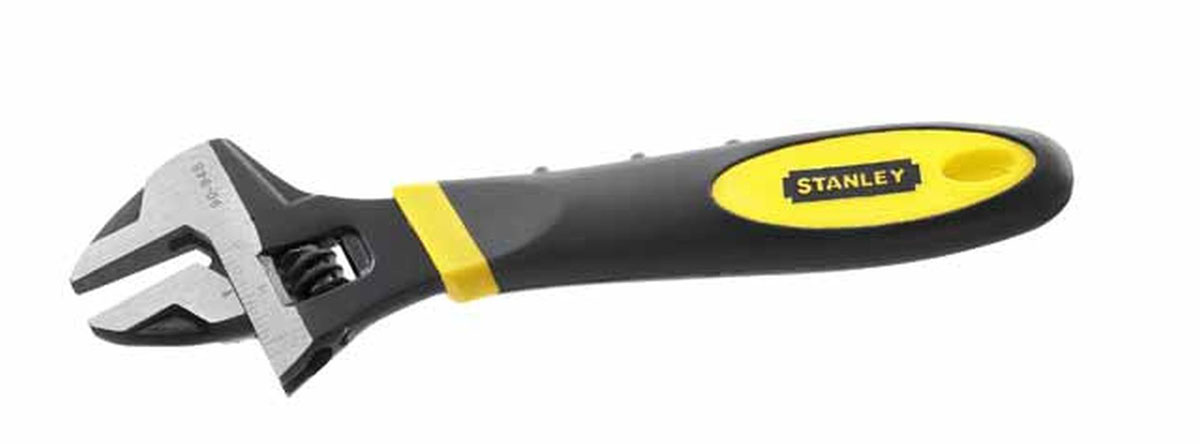 Ключ разводной Stanley MaxSteel, 250 мм, 0-35 мм0-90-949Ключ разводной Stanley предназначен для отвинчивания и завинчивания гаек, болтов, винтов и других резьбовых соединений, при выполнении различных слесарно-монтажных работ. Ключ снабжен мерной шкалой. Имеет удобную нескользящую ручку из термопластмассы. Характеристики: Материал:сталь, пластик. Общая длина:26 см. Максимальный захват: 3,5 см. Размер упаковки: 31 см х 2 см х 10 см.
