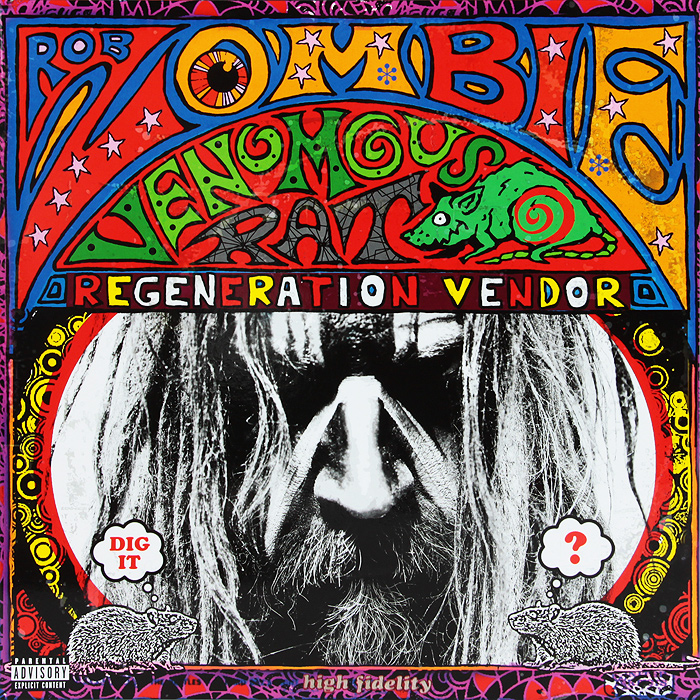Роб Зомби Rob Zombie. Venomous Rat Regeneration Vendor (LP) ultrasonic pest mosquito rat repeller white us plug