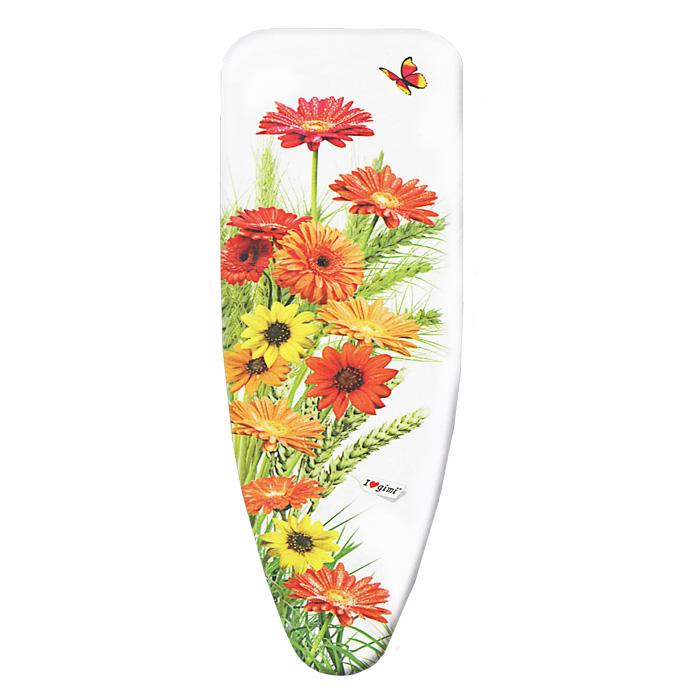 Чехол для гладильной доски Цветы, 120 х 43 см12030014Чехол для гладильной доски Цветы, выполненный из хлопка с подкладкой из мягкого нетканого материала, предназначен для защиты или замены изношенного покрытия гладильной доски. Чехол снабжен стягивающим шнуром, при помощи которого вы легко отрегулируете оптимальное натяжение чехла и зафиксируете его на рабочей поверхности гладильной доски. Этот качественный чехол обеспечит вам легкое глажение. Характеристики: Материал чехла: 100% хлопок. Материал подкладки: полиэстер. Размер чехла: 120 см x 43 см. Размер доски, на которую предназначен чехол: 110 см х 33 см. Артикул: 12030014.