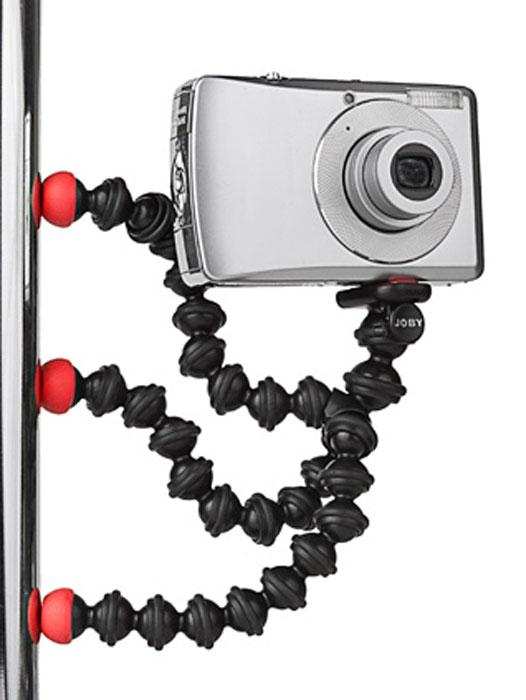 Joby Gorillapod Magnetic, Black Red штативJB00151-CM6Штатив Gorillapod Video позволит снять на фото и видео яркие моменты. Теперь снимать качественно можно используя минивидеокамеру, мобильный телефон или компактную фотокамеру с возможностью видеосъемки. Гибкие шарнирные ножки помогут закрепить штатив где и на чем угодно, а магнитные ножки позволят прикрепить его к любой любой металлической поверхности. В результате снимать видео можно под любым углом и в самом необычном ракурсе.