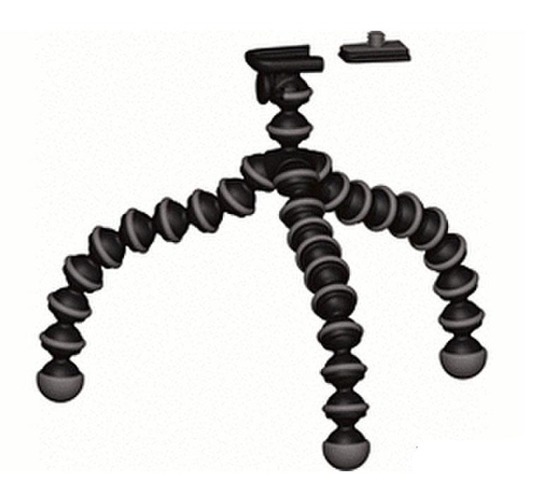 Joby GorillaPod Original, Black штативJB01235-CEUУниверсальный штатив GorillaPod Original имеет три гибкие ножки, которые крепятся на любой выступ, будь то ветки, дверная ручка или неровная поверхность. Каждая из ножек может сгибаться и вращаться на 360 градусов, чтобы закрепиться вокруг объектов. На концах ножек имеются вставки из каучука, придающие штативу устойчивость. Имеет адаптируемый винт, с помощью которого можно крепить различные цифровые устройства.