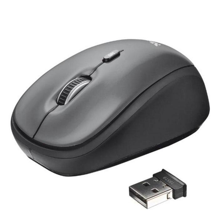 Trust Yvi Wireless Mini беспроводная оптическая мышь мышь проводная trust 19653 yvi retract blue