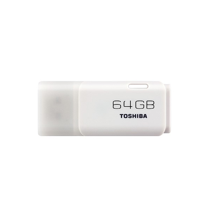 Toshiba TransMemory 64GB, White (THNU64HAY(BL5) toshiba transmemory usrg 016gs bk usb 2 0 flash drive disk black 16gb
