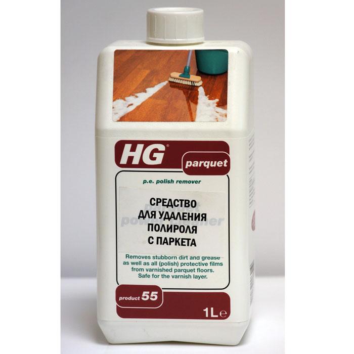 Средство HG для удаления полироля с паркета, 1000 мл швабры с резервуаром для воды other