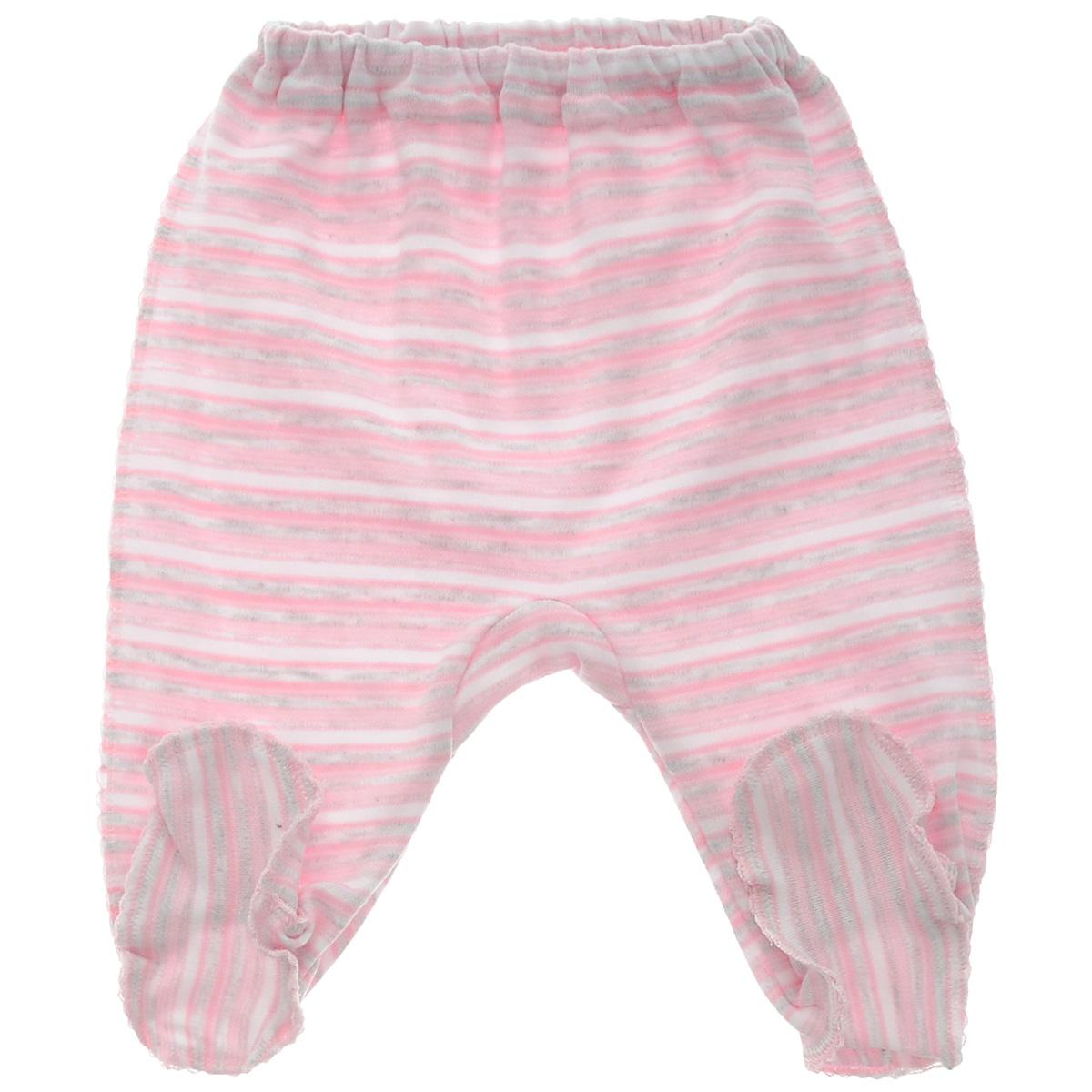 Ползунки Фреш стайл, цвет: розовый, белый. 39-506. Размер 20, 62 см, до 3 месяцев39-506Ползунки с закрытыми ножками Фреш Стайл послужат идеальным дополнением к гардеробу вашего ребенка. Ползунки с закрытыми ножками, изготовленные из натурального хлопка, необычайно мягкие и легкие, не раздражают нежную кожу ребенка и хорошо вентилируются, а эластичные швы приятны телу малыша и не препятствуют его движениям.Ползунки на резинке - очень удобный и практичный вид одежды для малышей. Отлично сочетаются с футболками, кофточками и боди.