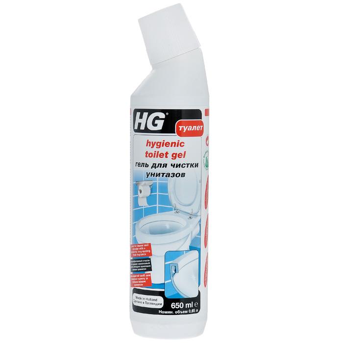 Гель HGдля чистки туалета, 650 мл средство для защиты и чистки стеклокерамики feed back 500 мл