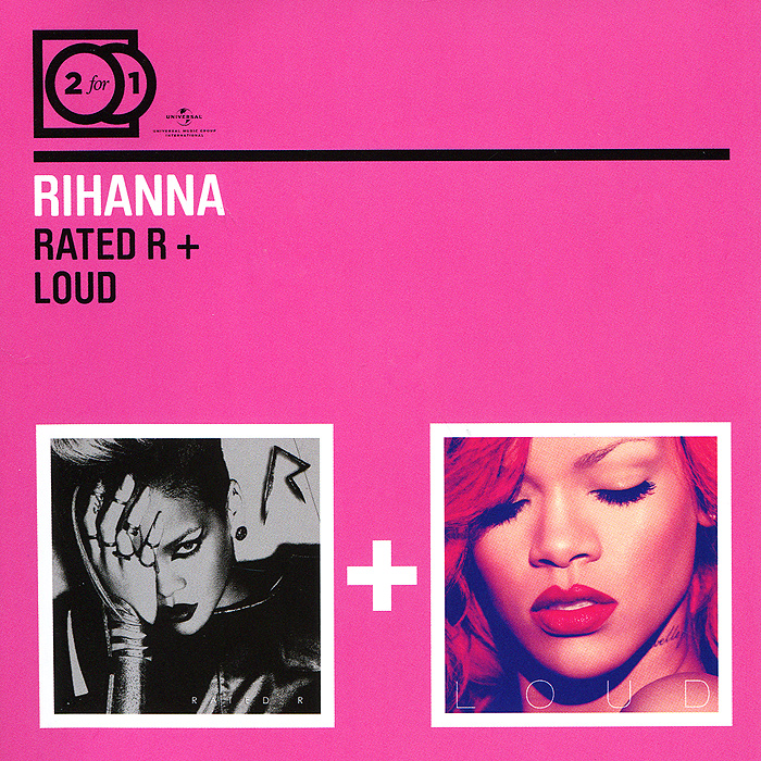 Rihanna Rihanna. Rated R / Loud (2 CD) rihanna rihanna rated r 2 lp