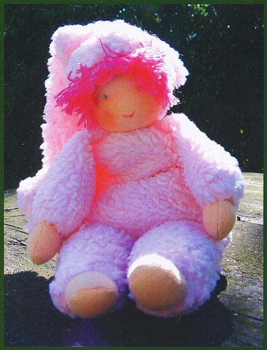 Набор для изготовления вальдорфской игрушки  Пупс в розовом , 23 см - Игрушки своими руками