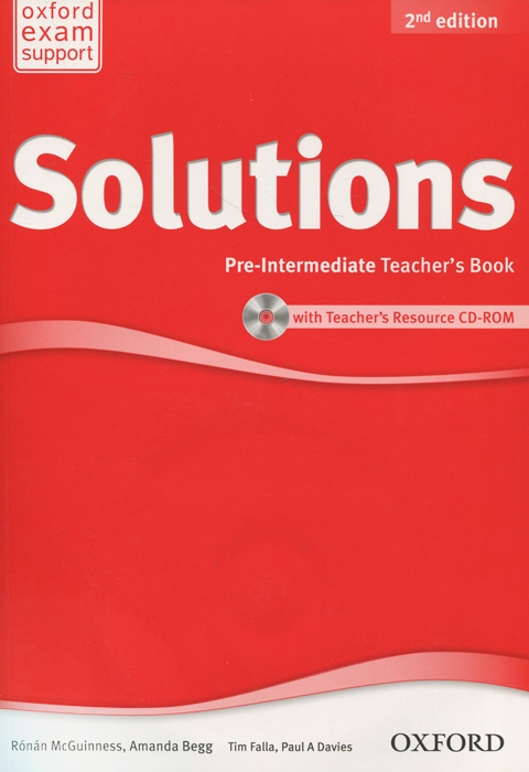 Solutions: Pre-Intermediate: Teacher's Book (+ CD-ROM)