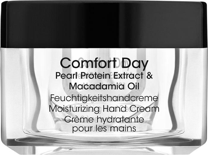 ALessandro Увлажняющий крем для рук Hydrating Comfort Day, 50 мл04-004Интенсивный питательный и увлажняющий крем для рук. В его составе экстракт протеинов жемчуга, масло макадамии, Алоэ вера, гиалуроновая кислота и витамин Е. Крем эффективно восстанавливает даже очень сухую и поврежденную кожу, питает ее, восполняет недостаток влаги в клетках. Характеристики:Объем: 50 мл. Артикул: 04-004. Производитель: Германия. Товар сертифицирован.Как ухаживать за ногтями: советы эксперта. Статья OZON Гид