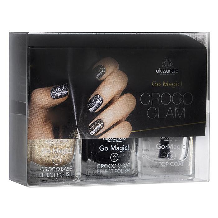 Alessandro Набор лаков для ногтей Croco Glam, 3х5 мл. 20-629 зеркало croco 220 х 80 см