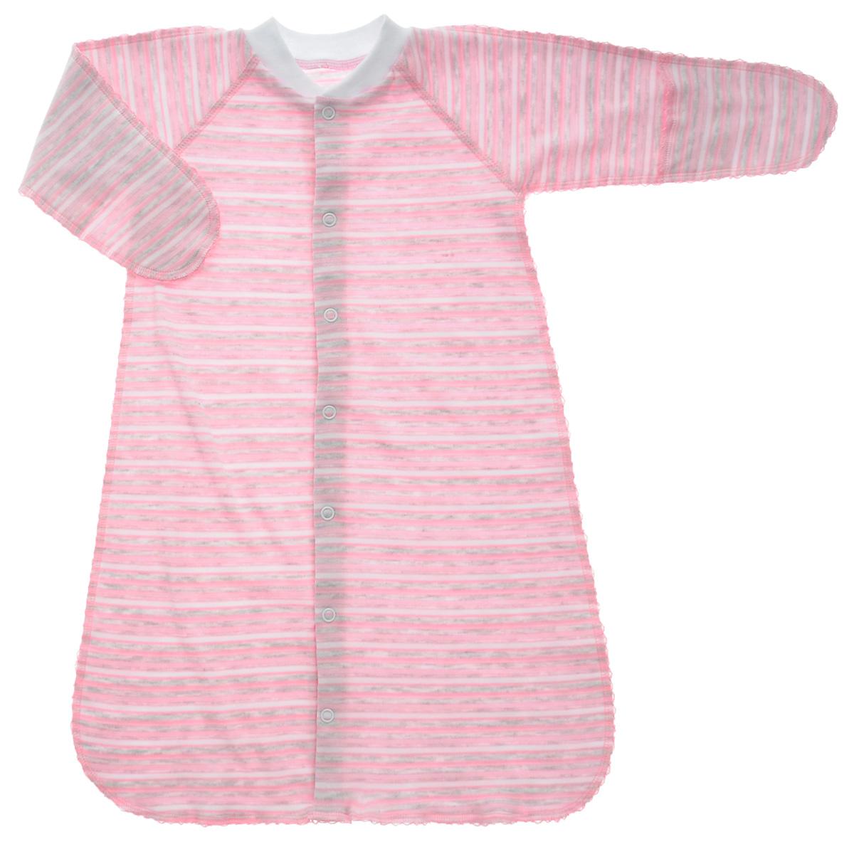 Спальный мешок унисекс Фреш стайл, цвет: розовый. 39-528 розовый, белый, серый. Размер 18, 50 см, 0-1 месяц39-528Спальный мешок Фреш Стайл идеально подойдет вашему ребенку для сна и прогулок, обеспечивая ему наибольший комфорт. Изготовленный 100% хлопка, он необычайно мягкий и легкий, не раздражают нежную кожу ребенка и хорошо вентилируются, а эластичные швы приятны телу ребенка и не препятствуют его движениям. Спальный мешок с длинными рукавами и швами наружу застегивается на удобные застежки-кнопки по всей длине, которые помогают легко переодеть младенца или сменить подгузник. Благодаря рукавичкам ребенок не поцарапает себя.Спальный мешок полностью соответствует особенностям жизни ребенка в ранний период, не стесняя и не ограничивая ее в движениях!