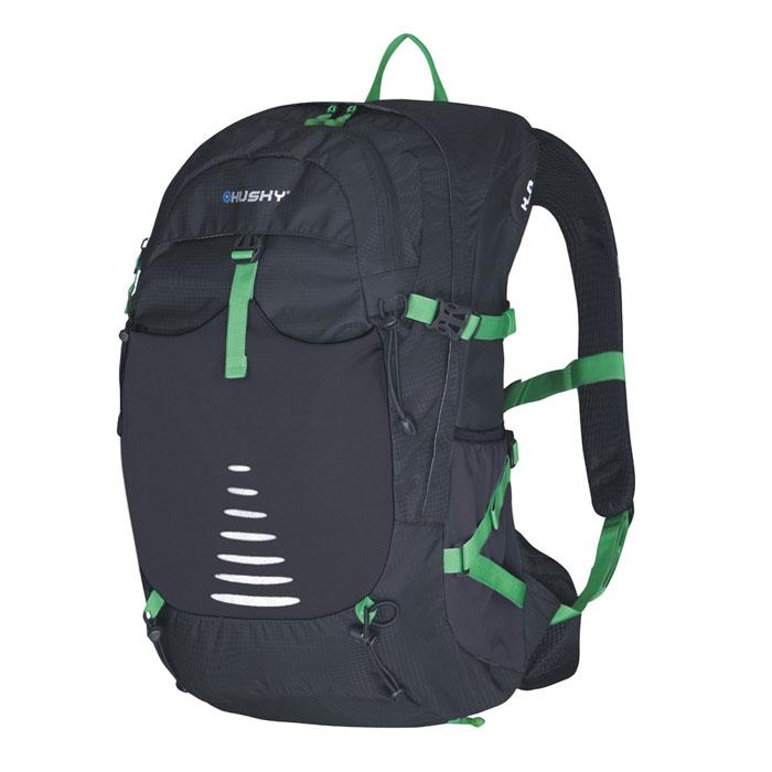 Рюкзак туристический Husky Skid 30, цвет: черныйУТ-000055331Рюкзак туристический Husky Skid 30 имеет систему вентиляции спины и утолщенные дышащие эргономичные плечевые лямки. Состоит рюкзак из большого отделения и боковыми карманами. Отделение закрывается на застежки-молнии. Также рюкзак имеет нагрудный и поясной ремни, держатель для гидратора, держатели для треккинговых палок и другой экипировки, накидку от дождя. Оснащен светоотражающими элементами. Особенности: - выгнутая спина для повышенной - вентиляции NBS, - утолщенные и дышащие эргономичные плечевые лямки, - нагрудный и поясной ремни, - держатель для гидратора, - компрессионные ремни, - держатели для треккинговых палок и дру-гой экипировки, - накидка от дождя, боковые карманы, - светоотражающие элементы. Характеристики:Размер рюкзака: 54 см х 30 см х 18 см. Объем рюкзака: 30 л. Материал: нейлон 250Т Ripstop Dobby W/P. Вес: 1090 г. Цвет: черный. Производитель: Чехия. Изготовитель: Китай. Артикул: УТ-000055331.
