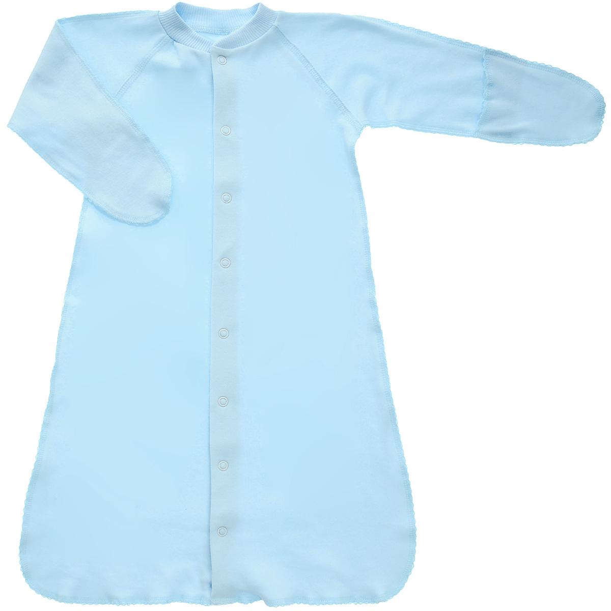 Спальный мешок унисекс Фреш стайл, цвет: голубой. 37-528. Размер 56, 0-1 месяц37-528Спальный мешок Фреш Стайл идеально подойдет вашему ребенку для сна и прогулок, обеспечивая ему наибольший комфорт. Изготовленный 100% хлопка - интерлок-пенье он необычайно мягкий и легкий, не раздражает нежную кожу ребенка и хорошо вентилируются, а эластичные швы приятны телу ребенка и не препятствуют его движениям. Спальный мешок с длинными рукавами и швами наружу застегивается на удобные застежки-кнопки по всей длине, которые помогают легко переодеть младенца или сменить подгузник. Благодаря рукавичкам ребенок не поцарапает себя.Спальный мешок полностью соответствует особенностям жизни ребенка в ранний период, не стесняя и не ограничивая ее в движениях!