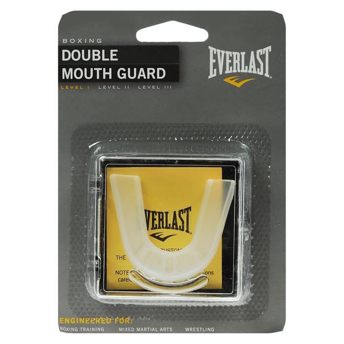 Капа двухчелюстная Everlast1400000Капа Everlast предназначена для защиты зубов во время тренировок и соревнований. Капа изготовлена из мягкого прозрачного силикона. Центральное отверстие позволяет свободно циркулировать воздуху. Характеристики: Материал: 70% этилвинилацетат, 30% силикон. Цвет: прозрачный. Размер упаковки: 11,5 см х 16 см х 4 см. Изготовитель: Китай. Артикул: 4410E.