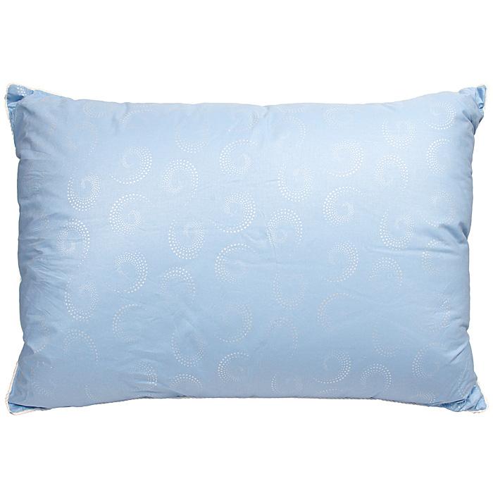 """Подушка Dargez """"Прима"""" представляет собой голубой чехол из натурального хлопка с пуховым наполнителем.   Особенности подушки Dargez """"Прима"""": натуральная и экологически чистая;  обладает легкостью и уникальными теплозащитными свойствами;  создает оптимальный температурный режим;  обладает высокой гигроскопичностью: хорошо впитывает и испаряет влагу;  имеет высокою воздухопроницаемостью: позволяет телу дышать;  обладает мягкостью и объемом.    Подушка упакована в прозрачный пластиковый чехол на молнии с ручкой, что является чрезвычайно удобным при переноске.   Характеристики:   Материал чехла: перкаль (100% хлопок). Наполнитель: пух первой категории. Размер подушки: 50 см х 70 см. Масса наполнителя: 0,8 кг. Артикул: 11310П.   Торговый Дом Даргез был образован в 1991 году на базе нескольких компаний, занимавшихся производством и продажей постельных принадлежностей и поставками за рубеж пухоперового сырья. Благодаря опыту, накопленным знаниям, стремлению к инновациям и развитию за 19 лет компания смогла стать крупнейшим производителем домашнего текстиля на территории Российской Федерации.  В основу деятельности Торгового Дома Даргез положено стремление предоставить покупателю широкий выбор высококачественных постельных принадлежностей и текстиля для дома, которые способны создавать наилучшие условия для комфортного и, что немаловажно, здорового сна и отдыха. УВАЖАЕМЫЕ КЛИЕНТЫ!  Обращаем ваше внимание на ассортимент в цветовом дизайне товара. Поставка осуществляется в зависимости от наличия на складе."""
