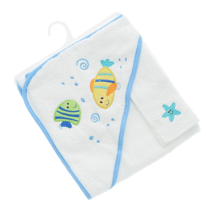Комплект для купания  Рыбки , цвет: голубой, 2 предмета -  Все для купания