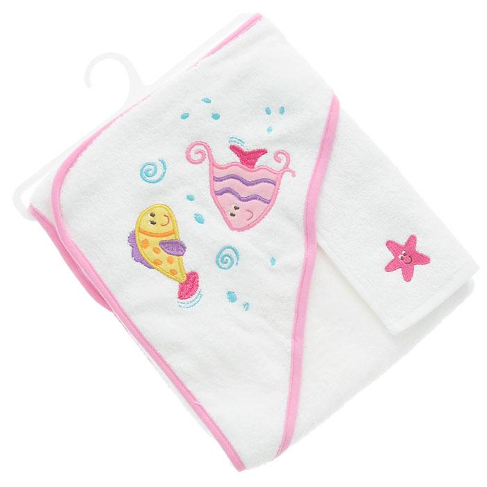 Комплект для купания  Рыбки , цвет: розовый, 2 предмета -  Все для купания