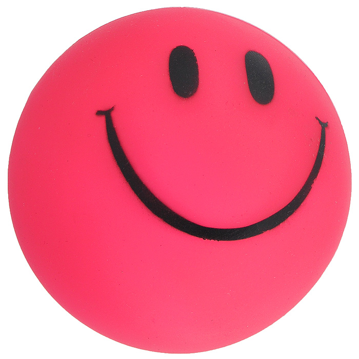 Игрушка для собак Ziver Мяч Смайлик, с пищалкой, цвет: розовый, диаметр 7 см40.ZV.052Игрушка для собак Ziver Мяч Смайлик изготовлена из винила и латекса с использованием только безопасных, не токсичных красителей. Мяч розового цвета оформлен забавным улыбающимся смайлом. Игрушка при надавливании или захвате пастью пищит. Привлечет внимание вашего любимца, позволит весело провести ему время, не навредит здоровью, а также поможет вам сохранить в целости личные вещи и предметы интерьера.Диаметр мяча: 7 см.
