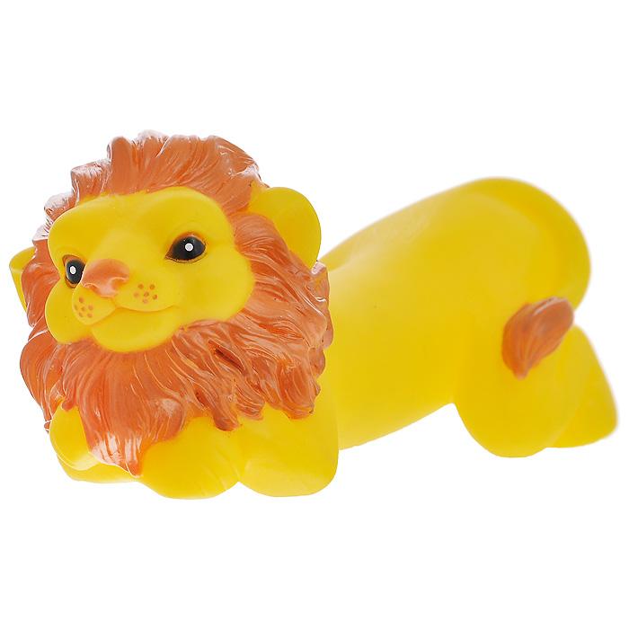 Игрушка для собак Ziver Лев папа, с пищалкой, цвет: желтый, длина 17 см игрушка для собак ziver осел длинноухий с пищалкой цвет голубой 18 см