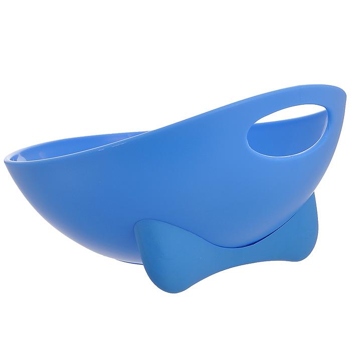 Миска для животных Ziver, цвет: голубой, 700 мл40.ZV.211Дизайнерская миска Ziver - это посуда с удобной для животных анатомической формой. Миска выполнена из пластика с глянцевой поверхностью внутри, а снаружи - матовой. За счет разных поверхностей миска легко моется водой. Съемная утяжеленная резиновая ножка не позволяет миске скользить по полу. Порадуйтесвоего питомца яркой и удобной миской для корма.Объем: 700 мл.Диаметр миски по верхнему краю: 19,5 см.Высота стенок: 11,5 см.