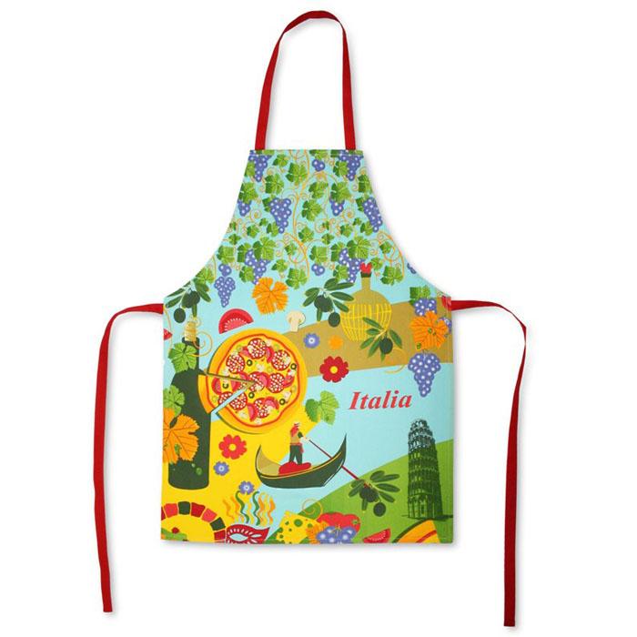 Фартук Bonita Италия, 55 х 75 см1101211566Кухонный фартук Bonita Италия выполнен из натурального хлопка и оформлен изображениями, символизирующими Италию (пицца, виноград, гондольер). Фартук поможет вам избежать попадания еды на вашу одежду во время приготовления какого-либо блюда. На нем имеются удобная лямка и завязки. Характеристики:Материал: 100% хлопок. Размер фартука: 55 см х 75 см. Артикул: 1101211566. Уют на кухне - это предмет заботы специалистов, создающих текстиль для кухни Bonita. Кухня, столовая, гостиная - то место в доме, где хочется собраться всем вместе, ощутить радость и уют. И немалая доля этого уюта зависит от подобранных под вашу мебель и, что уж говорить, под ваше настроение полотенец, скатертей, салфеток и прочих милых мелочей. Bonita предлагает коллекции готовых стилистических решений для различной кухонной мебели, множество видов рисунков и цветов. Вам легко будет создать нужную атмосферу на кухне и в столовой с товарами Bonita.
