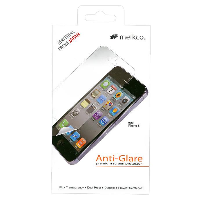 Melkco защитная пленка для iPhone 5, матоваяAPIPO5SPAT1Защитная пленка для Apple iPhone 5 позволит уберечь любимый гаджет от появления царапин, отпечатков пальцев, сколов, пыли и влаги.