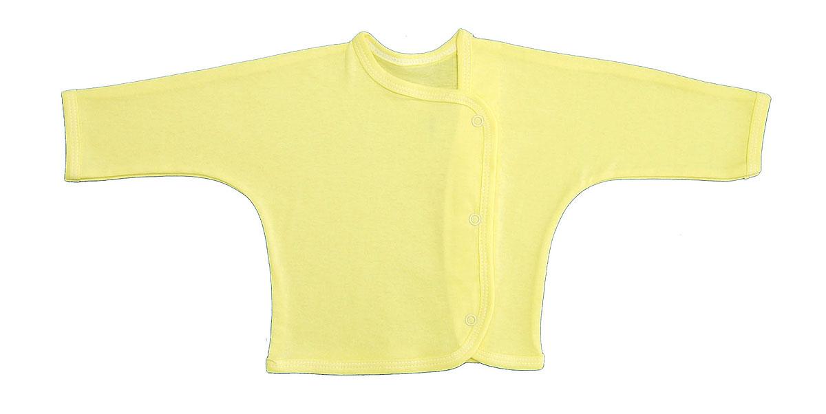 Кофточка Трон-плюс, цвет: желтый. 5153. Размер 80, 12 месяцев5153Кофточка с длинными рукавами Трон-плюс послужит идеальным дополнением к гардеробу младенца. Кофточка выполнена из кулирного полотна - натурального хлопка, благодаря чему она необычайно мягкая и легкая, не раздражает нежную кожу ребенка и хорошо вентилируется, а эластичные швы приятны телу малыша и не препятствуют его движениям. Кофточка застегивается спереди по всей длине при помощи кнопок, позволяют без труда переодеть ребенка.