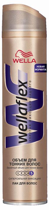 Wellaflex Лак для волос Объем для тонких волос, супер-сильная фиксация, 250 млWF-81145083Благодаря формуле Объемной укладки лак обволакивает каждый волос, заполняя истонченные участки. Надежная упругая фиксация до 24 часов. Не склеивает волосы, не сушит их, помогает защитить от УФ-лучей. Характеристики:Объем: 250 мл. Артикул: WF-81145083. Производитель: Германия. Товар сертифицирован.