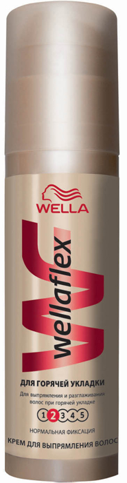 """Wellaflex Крем для укладки волос """"Для горячей укладки"""", нормальная фиксация, 100 мл"""