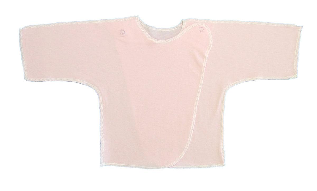 Распашонка Трон-плюс, цвет: розовый. 5002. Размер 50, 0-1 месяц5002Распашонка для мальчика Трон-плюс послужит идеальным дополнением к гардеробу вашего малыша. Распашонка изготовлена из натурального хлопка, благодаря чему она необычайно мягкая и легкая, не раздражает нежную кожу ребенка и хорошо вентилируется, а эластичные швы приятны телу малыша и не препятствуют его движениям. Распашонка с запахом, застегивается при помощи двух кнопок на плечах, которые позволяют без труда переодеть ребенка.