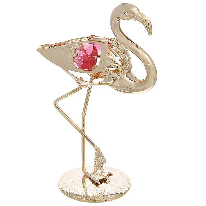 Фигурка декоративная Фламинго, цвет: золотистый. 692722692722Декоративная фигурка Фламинго, золотистого цвета, станет необычным аксессуаром для вашего интерьера и создаст незабываемую атмосферу. Фигурка в виде грациозного фламинго инкрустирована красными кристаллами. Кристаллы, украшающие фигурку, носят громкое имяSwarovski. Ограненные, как бриллианты, кристаллы блистают сотнями тысяч различных оттенков.Эта очаровательная фигурка послужит отличным функциональным подарком, а также подарит приятные мгновения и окунет вас в лучшие воспоминания.Фигурка упакована в подарочную коробку. Характеристики:Материал: металл, австрийские кристаллы. Размер фигурки: 7 см х 10,5 см х 4 см. Цвет: золотистый. Размер упаковки: 6,5 см х 11 см х 6,5 см. Артикул: 692722.