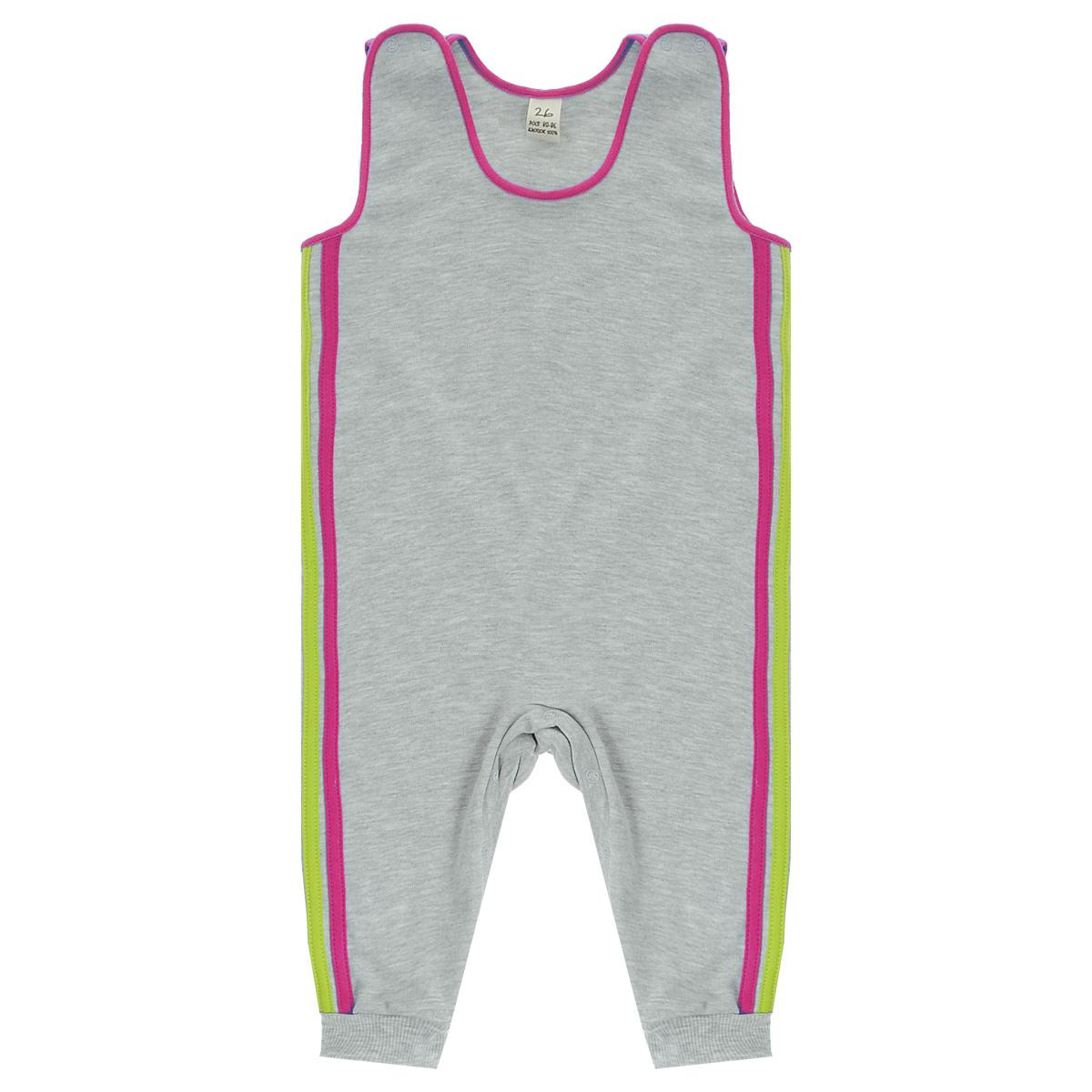 Ползунки с грудкой Lucky Child, цвет: серый, розовый. 1-15. Размер 80/861-15Ползунки с грудкой Lucky Child - очень удобный и практичный вид одежды для малышей. Они отлично сочетаются с футболками и кофточками. Ползунки выполнены из интерлока - натурального хлопка, благодаря чему они необычайно мягкие и приятные на ощупь, не раздражают нежную кожу ребенка и хорошо вентилируются, а эластичные швы приятны телу малыша и не препятствуют его движениям. Ползунки без ножек, застегивающиеся сверху на кнопки, идеально подойдут вашему малышу, обеспечивая ему наибольший комфорт, подходят для ношения с подгузником и без него. Кнопки на ластовице помогают легко и без труда поменять подгузник в течение дня. Отделкой служат лампасы контрастного цвета по боковому шву.Ползунки с грудкой полностью соответствуют особенностям жизни малыша в ранний период, не стесняя и не ограничивая его в движениях!