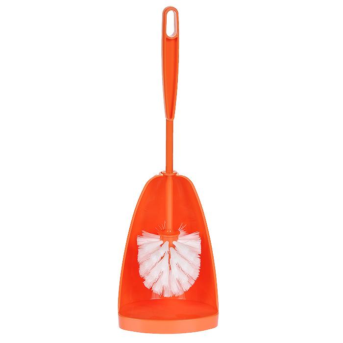 Ершик для туалета Centi Соло, с подставкой, цвет: оранжевый, 2 предмета6406_оранжевыйЕршик для туалета Centi Соло выполнен из высококачественного сложного полимера. Он хранится в специальной подставке, которая обеспечивает гигиеничность использования и облегчает уход. Ершик отлично чистит поверхность, а грязь с него легко смывается водой.Общая высота (с учетом подставки): 40 см.Длина ершика: 36 см.Размер рабочей части ершика: 8 х 8 х 8 см.Размер подставки для ершика: 12 х 11 х 20 см.