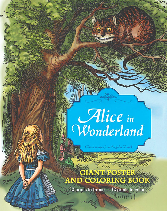 Alice in Wonderland: Giant Poster and Coloring Book down the rabbit hole