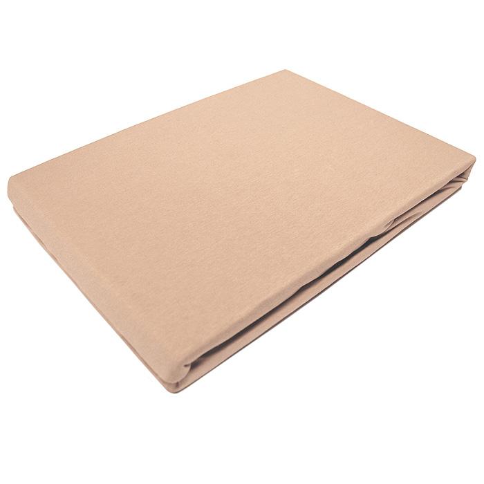 Простыня трикотажная ЭГО на резинке, цвет: кофейно-кремовый, 90 x 200 смЭ-ПР-01-27Трикотажная простыня ЭГО на резинке выполнена из 100% хлопка высокого качества. Натуральный, экологически чистый материал обеспечивает высокую гигиеничность простыни. Она гигроскопична и воздухопроницаема, а также приятна на ощупь. Трикотаж имеет достаточно рыхлую структуру, образованную переплетением петель, что обеспечивает его растяжимость и эластичность. Простыня ЭГО очень мягкая и не мнется, не теряет форму после стирки и не линяет. Трикотаж достаточно эластичен, поэтому изделия из него можно даже не гладить. Простыня прошита резинкой по всему периметру, что обеспечивает более комфортный отдых, так как она прочно удерживается на матрасе и избавляет от необходимости часто поправлять простыню. Выбрав простыню нужной вам расцветки, вы можете легко комбинировать ее с различным постельным бельем. Характеристики:Материал: 100% хлопок. Размер простыни: 90 см х 200 см х 27 см. Цвет: кофейно-кремовый. Изготовитель:Турция. Артикул:Э-ПР-01-27.