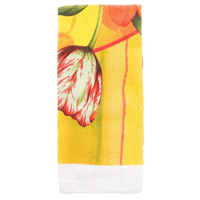 Полотенце для кухни Коллекция, 38 x 63 смПЛФ-1Кухонное полотенце Коллекция, выполненное из хлопка, подарит вам мягкость и необыкновенный комфорт в использовании. Оно идеально впитывает влагу и сохраняет свою необычайную мягкость даже после многократных стирок. Полотенце декорировано изображением букета тюльпанов. Такое полотенце - отличный вариант для практичной и современной хозяйки. Характеристики:Материал: 100% хлопок. Размер полотенца: 38 см x 63 см. Артикул: ПЛФ-1.
