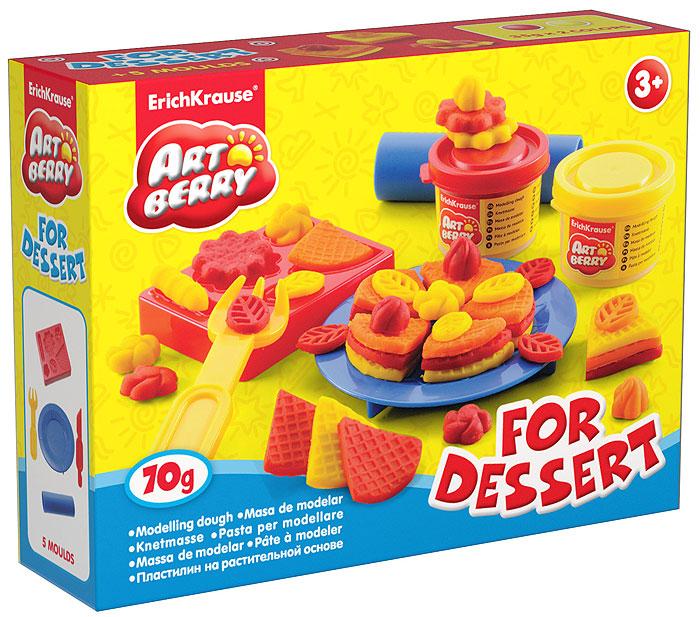 Набор для лепки (на растительной основе) For Dessert, 2 цвета30367Пластилин на растительной основе For Dessert - увлекательная игрушка, развивающая у ребенка мелкую моторику рук, воображение и творческое мышление. Пластилин легко разминается, не липнет к рукам и рабочей поверхности, не пачкает одежду. Цвета смешиваются между собой, образуя новые оттенки. Пластилин застывает на открытом воздухе через 24 часа. Набор содержит пластилин 2 цветов (красного и желтого), форму-трафарет, валик, стек, вилочку и тарелочку. Пластилин каждого цвета хранится в отдельной пластиковой баночке. С пластилином на растительной основе For Dessert ваш ребенок будет часами занят игрой.Характеристики:Общий вес пластилина: 70 г. Размер формы-трафарета: 8 см x 6,5 см x 1,5 см. Длина стека: 13,5 см. Размер валика: 9 см x 2,5 см x 2,5 см. Диаметр тарелки: 10 см. Длина вилки: 10 см. Размер упаковки: 16 см x 11,5 см x 4 см. Изготовитель: Россия.