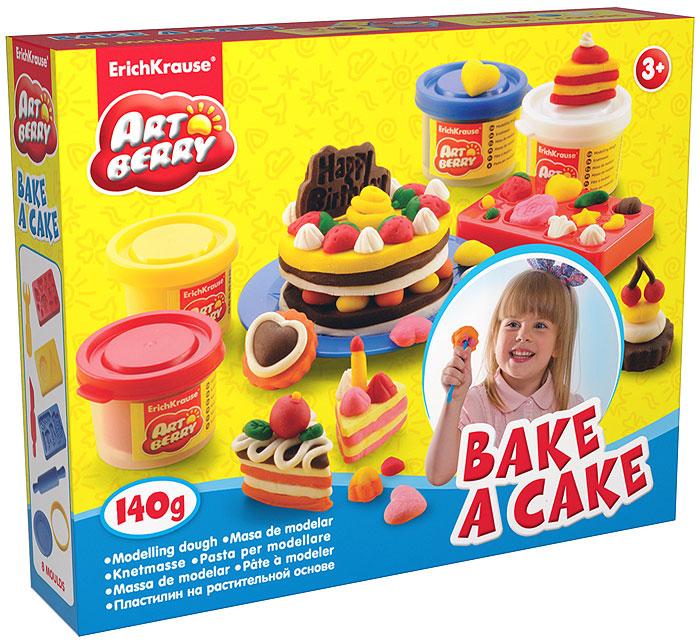Набор для лепки (на растительной основе) Bake a Cake, 4 цвета30379Пластилин на растительной основе Bake a Cake - увлекательная игрушка, развивающая у ребенка мелкую моторику рук, воображение и творческое мышление. Пластилин легко разминается, не липнет к рукам и рабочей поверхности, не пачкает одежду. Цвета смешиваются между собой, образуя новые оттенки. Пластилин застывает на открытом воздухе через 24 часа. Набор содержит пластилин 4 цветов (красного, синего, желтого, белого), 3 формы-трафарета, круглую объемную форму, тарелочку, валик с ручками, 2 стека. Пластилин каждого цвета хранится в отдельной пластиковой баночке. С пластилином на растительной основе Bake a Cake ваш ребенок будет часами занят игрой. Характеристики:Общий вес пластилина: 140 г. Средняя длина стеков: 11,5 см. Диаметр круглой формы: 7,5 см. Средний размер форм-трафаретов: 7,5 см x 5 см x 1 см. Длина валика: 17 см. Диаметр тарелки: 10 см. Размер упаковки: 21,5 см x 19 см x 4 см. Изготовитель: Россия.