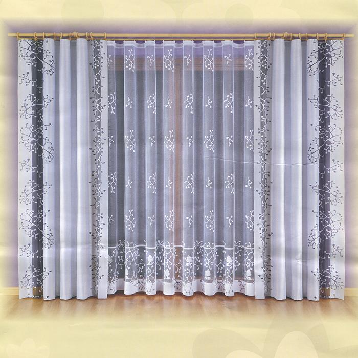 Комплект штор Malwina, на ленте, цвет: серый, белый, высота 240 см730445Комплект штор Malwina, изготовленный из полиэстера, органично впишется в интерьер любой комнаты. В набор входят две шторы и тюль белого цвета. Плотные шторы декорированы вертикальной прозрачной полосой черного цвета. Тонкое плетение и оригинальный дизайн привлекут к себе внимание и органично впишутся в интерьер комнаты. Все предметы комплекта на шторной ленте для собирания в сборки. Характеристики:Материал: 100% полиэстер. Цвет: серый, белый. Размер упаковки:28 см х 11 см х 36 см. Артикул: 730445.В комплект входит: Штора - 2 шт. Размер (ШхВ): 140 см х 240 см. Тюль - 1 шт. Размер (ШхВ): 600 см х 240 см.Фирма Wisan на польском рынке существует уже более пятидесяти лет и является одной из лучших польских фабрик по производству штор и тканей. Ассортимент фирмы представлен готовыми комплектами штор для гостиной, детской, кухни, а также текстилем для кухни (скатерти, салфетки, дорожки, кухонные занавески). Модельный ряд отличает оригинальный дизайн, высокое качество. Ассортимент продукции постоянно пополняется.