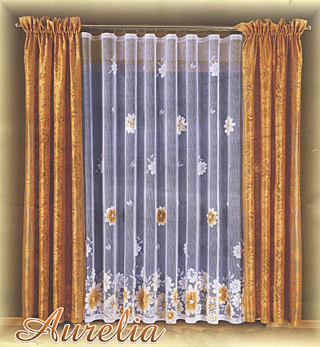 Комплект штор Aurelia, на ленте, цвет: бежевый, белый, высота 250 см690442Комплект штор Aurelia великолепно украсит любое окно. Комплект состоит из тюли и двух штор, оформленных изящными цветочными узорами. Шторы изготовлены из легкого полиэстера бежевого цвета, тюль - из полиэстера белого цвета. Тонкое плетение, оригинальный дизайн и нежная цветовая гамма привлекут к себе внимание и органично впишутся в интерьер помещения. Все предметы комплекта оснащены шторной лентой для собирания в сборки. Шторы дополнительно оснащены кулиской для крепления на круглый карниз. Характеристики:Материал: 100% полиэстер. Цвет: бежевый, белый. Высота кулиски: 8 см. Размер упаковки:30 см х 38 см х 10 см. Артикул: 690442.В комплект входит: Штора - 2 шт. Размер (ШхВ): 145 см х 250 см. Тюль - 1 шт. Размер (ШхВ): 500 см х 250 см. Фирма Wisan на польском рынке существует уже более пятидесяти лет и является одной из лучших польских фабрик по производству штор и тканей. Ассортимент фирмы представлен готовыми комплектами штор для гостиной, детской, кухни, а также текстилем для кухни (скатерти, салфетки, дорожки, кухонные занавески). Модельный ряд отличает оригинальный дизайн, высокое качество. Ассортимент продукции постоянно пополняется.