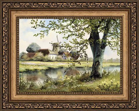Постер в раме Весеннее утро, 13 x 18 см постер в раме абстракция 60х60 см
