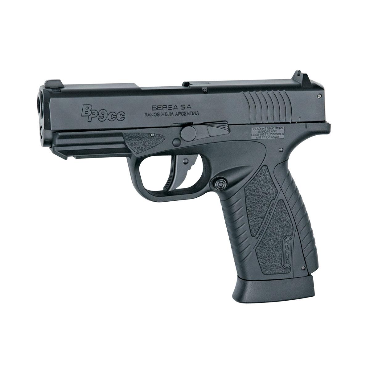 """Пневматическая реплика пистолета BP9CC производится по лицензии аргентинской компании Bersa. Это - легкий, компактный, сверхтонкий пистолет(рукоять чуть шире баллона СО2) с эргономичным дизайном. Небольшая по размеру рукоять подойдет для подростка или девушки, желающих заняться стрелковой практикой. Модель максимально имитирует функции всех частей: подвижный при стрельбе затвор, планка """"Пикатинни"""" под стволом для крепления фонаря или ЛЦУ.Версия блоубэк (при стрельбе затвор имитирует отдачу и по окончании боеприпасов ставится на затворную задержку).Возврат  товара  возможен только при наличии заключения сервисного центра.Время работы сервисного центра: Пн-чт: 10.00-18.00Пт: 10.00- 17.00Сб, Вс: выходные дниАдрес: ООО """"ГАТО"""", 121471, г.Москва,  ул.  Петра  Алексеева,  д  12., тел. (495)232-4670, gato@gato.ru"""