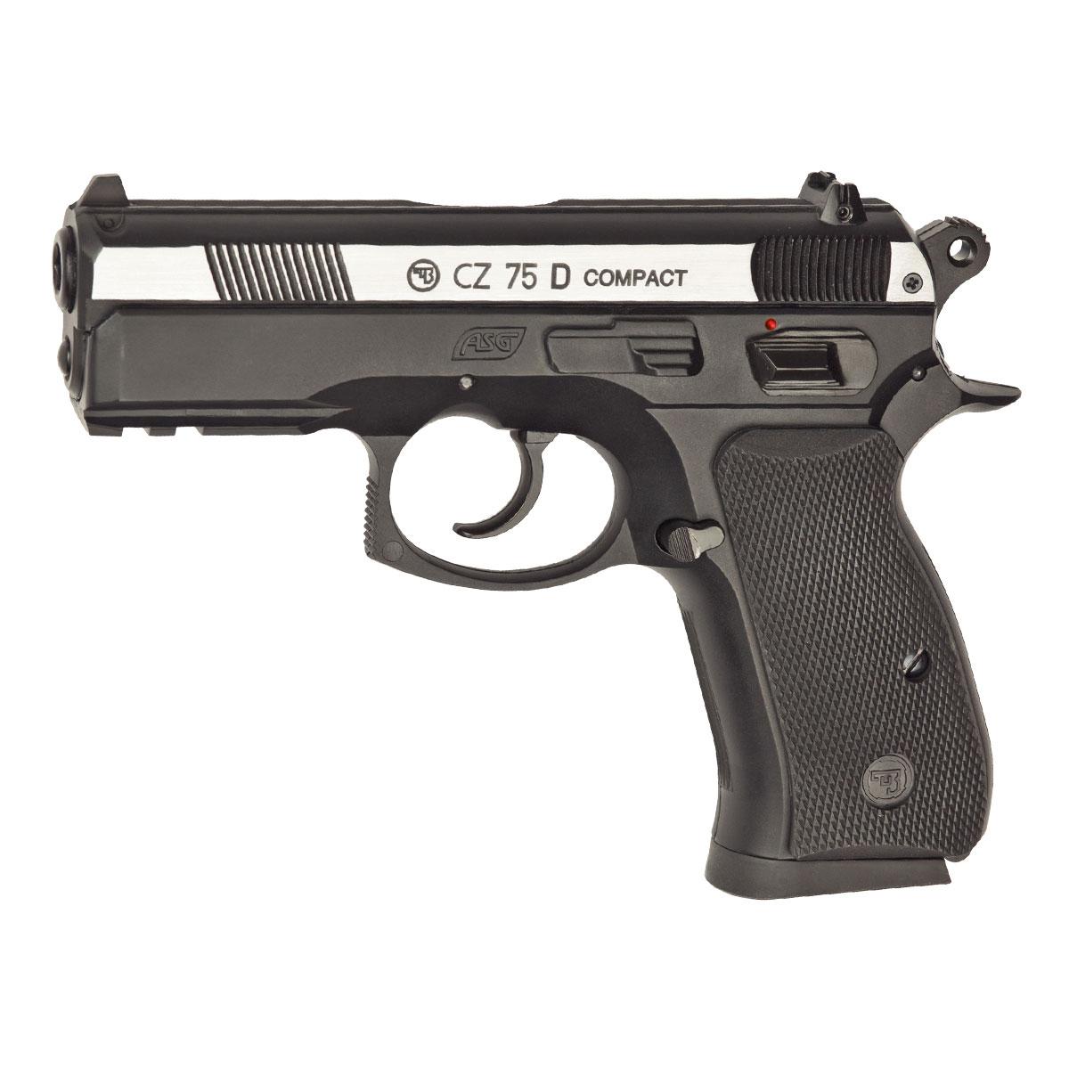 ASG CZ 75D Сompact пистолет пневматический CO2, 4,5 мм, цвет: Dual Tone (16200) 2pcs lot sim900a gsm gprs module base station positioning mms version dual tone multi frequency