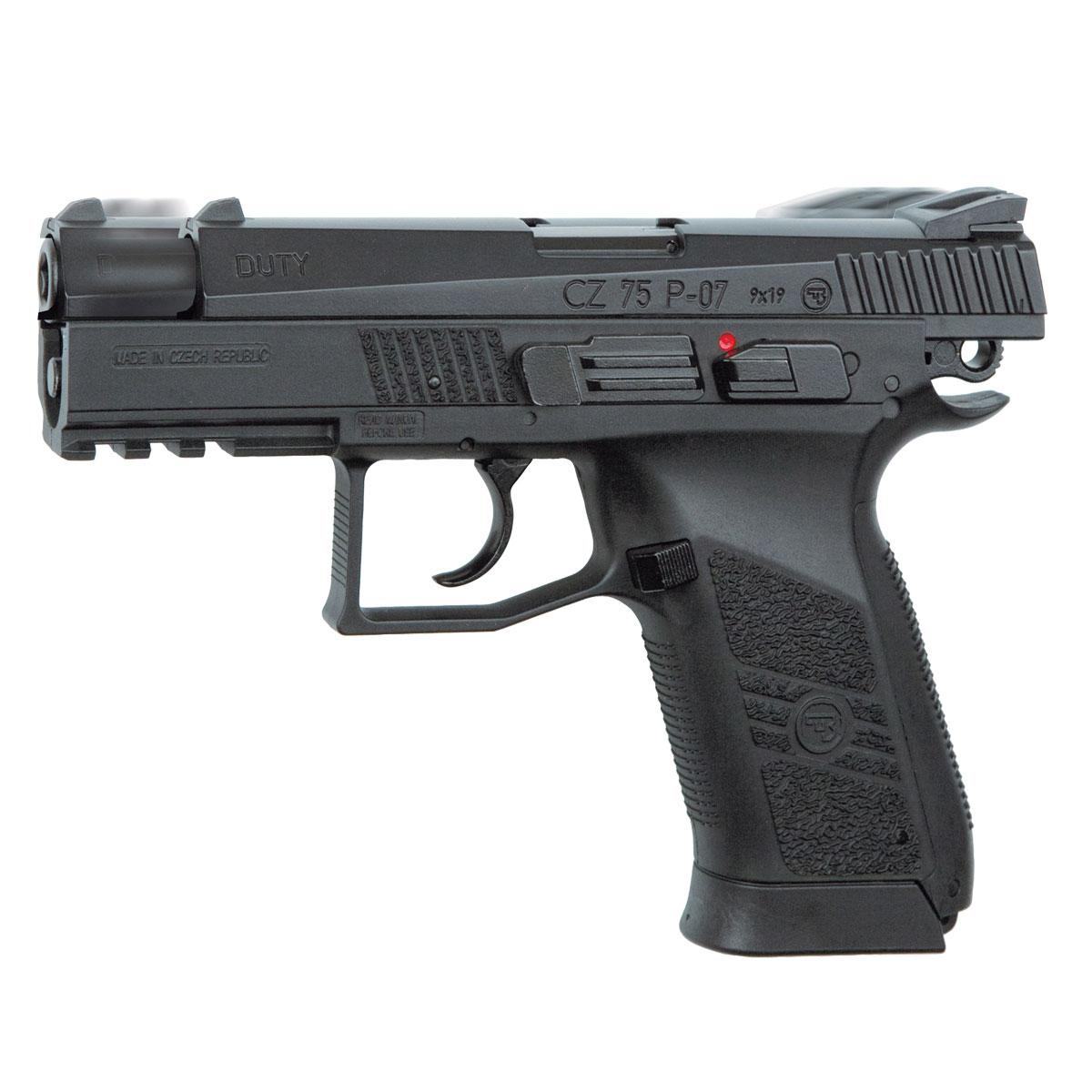 ASG CZ 75 P-07 Duty пистолет пневматический, Blowback, CO2, 4,5 мм, цвет: Black (16728) пистолет asg m9 13466