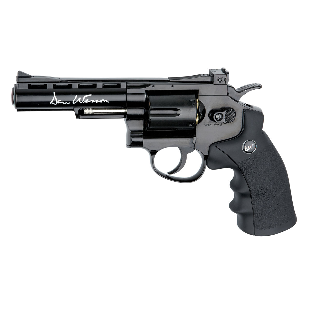 "ASG ""Dan Wesson 4inch"" револьвер пневматический CO2, 4,5 мм, цвет: Black (17176)"