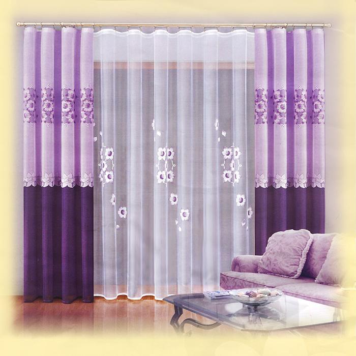 Комплект штор Zoe, на ленте, цвет: сиреневый, белый, высота 250 см737468Комплект штор Zoe великолепно украсит любое окно. Комплект состоит из тюля и двух штор, оформленных цветочным принтом. Шторы выполнены из плотного полиэстера сиреневого цвета, тюль - из легкого полиэстера белого цвета.Тонкое плетение и нежная цветовая гамма привлекут к себе внимание и органично впишутся в интерьер помещения. Все предметы комплекта оснащены шторной лентой для красивой сборки. Характеристики:Материал: 100% полиэстер. Цвет: сиреневый, белый. Размер упаковки:32 см х 36 см х 10 см. Артикул: 737468.В комплект входит: Штора - 2 шт. Размер (ШхВ): 150 см х 250 см. Тюль - 1 шт. Размер (ШхВ): 300 см х 250 см. Фирма Wisan на польском рынке существует уже более пятидесяти лет и является одной из лучших польских фабрик по производству штор и тканей. Ассортимент фирмы представлен готовыми комплектами штор для гостиной, детской, кухни, а также текстилем для кухни (скатерти, салфетки, дорожки, кухонные занавески). Модельный ряд отличает оригинальный дизайн, высокое качество. Ассортимент продукции постоянно пополняется.