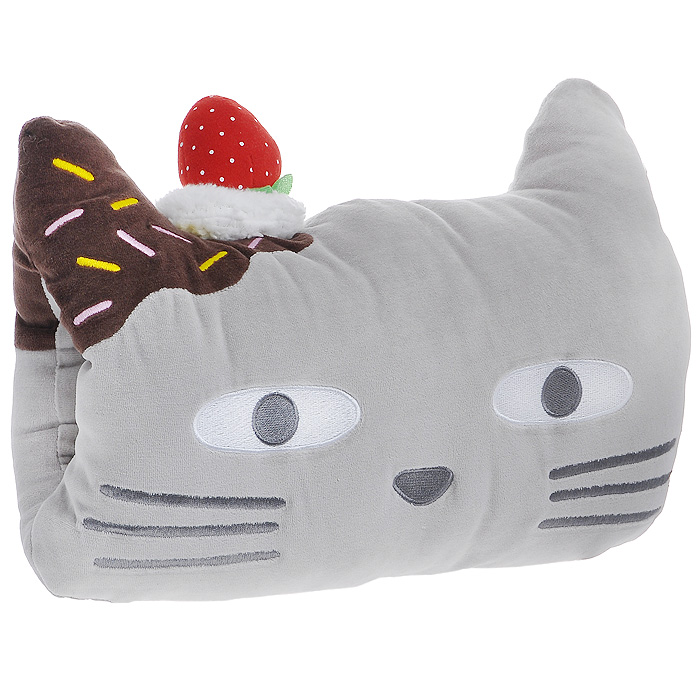 Подушка-муфта Kam Kam. 1324113241Забавная подушка в виде мордочки котика Kam Kam добавит вашему интерьеру уют. Выполненная из мягкого бархатистого материала, эта подушечка также может использоваться как муфта. В подушке имеется специальное отверстие для рук. Такая подушка подарит вам комфорт, а забавный дизайн вызовет улыбку и привнесет в интерьер позитива. Характеристики:Материал:хлопок, полиэстер.Набивка: полиэстеровое волокно. Размер подушки:42 см х 30 см х 13 см. Артикул:13241.