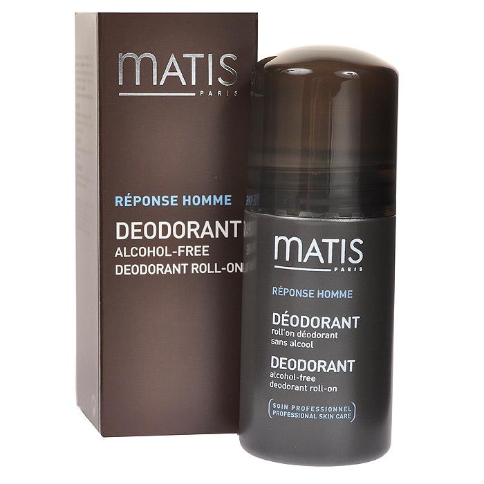 Matis Дезодорант шариковый, для мужчин, 50 мл37921Шариковый дезодорант без спирта обеспечивает надёжную защиту и свежесть на весь день.Хлоргидрат алюминия.Наносить на сухую чистую кожу.