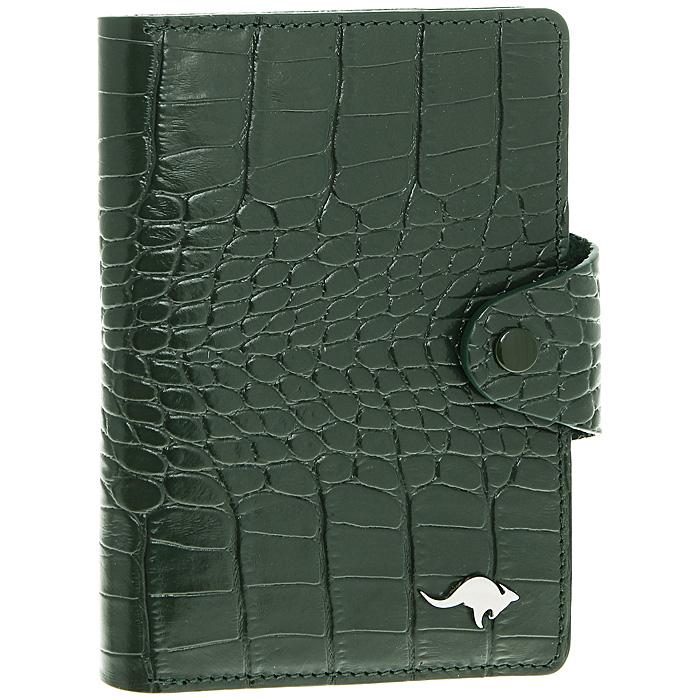 Обложка для автодокументов Cangurione, цвет: зеленый. 3305-009 KR/Green3305-009 KR/GreenОбложка для автодокументов Cangurione выполнена из натуральной кожи зеленого цвета с декоративным тиснением под крокодила. На внутреннем развороте - 4 кармашка для пластиковых и кредитных карт, потайное отделение, окошко для фотографии и два кармашка для документов. Обложка закрывается при помощи хлястика на кнопку. Обложка не только поможет сохранить внешний вид ваших документов и защитит их от повреждений, но и станет стильным аксессуаром, который подчеркнет ваш неповторимый стиль. Обложка упакована в коробку из плотного картона с логотипом фирмы. Характеристики:Материал: натуральная кожа, металл. Цвет: зеленый. Размер обложки: 10 см х 13,5 см. Размер упаковки: 11,5 см х 15,5 см х 2 см. Артикул: 3305-009 KR/Green.